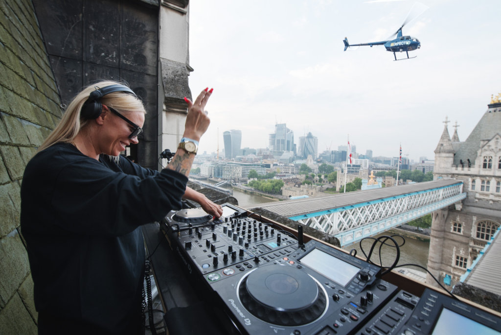 Sam Divine on top of Tower Bridge